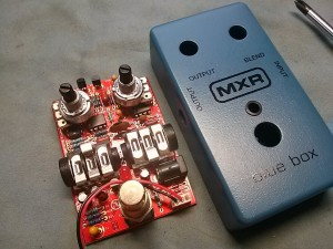 MXR Blue Box 音抜け 音量 モディファイ