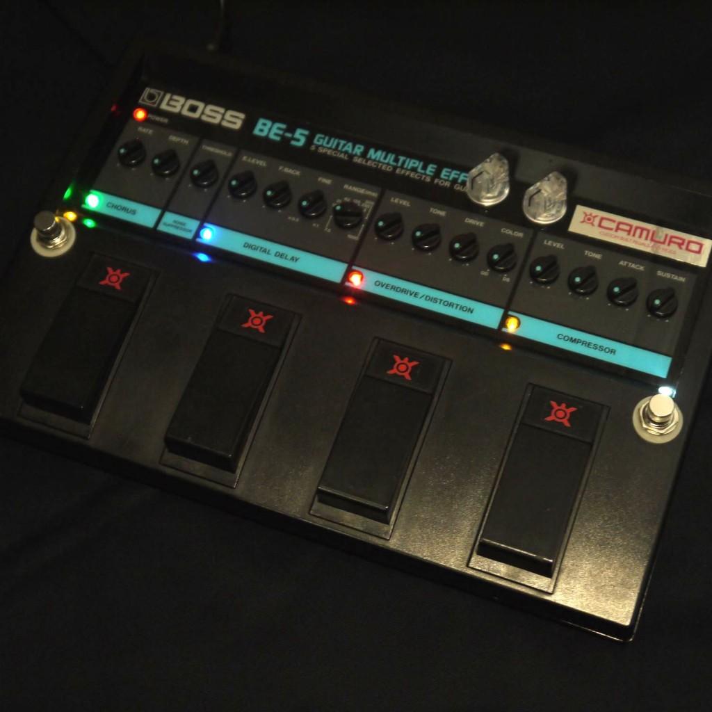 BE-5に搭載したLEDの例(赤、青、黄、緑、白)
